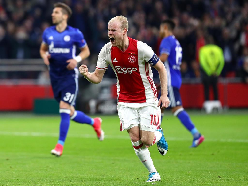 Klaassen celebrando un gol (Foto: AFP)
