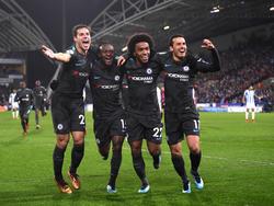 Der FC Chelsea setzte sich deutlich gegen Huddersfield durch