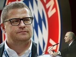 Geht Gladbach-Manager Max Eberl (l.) zum FC Bayern?