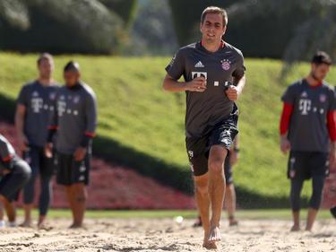 Bayern-Kapitän Philipp Lahm quält sich für die Champions League