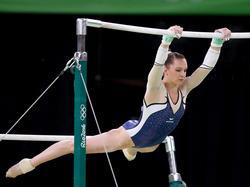 Sophie Scheder bei ihrer Bronze-Übung