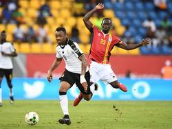 Jordan Ayew (li.) und die Ghanaer feierten zum Auftakt des Afrika Cups einen Arbeitssieg