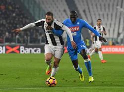 Gonzalo Higuaín trifft mit Juventus auf seinen alten Klub SSC Neapel