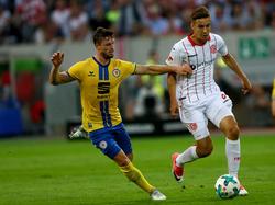 Florian Neuhaus (r.) feierte im Fortuna-Trikot ein gelungenes Debüt