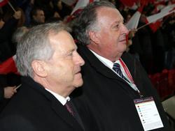 "ÖFB-Präsident Leo Windtner und Generalsekretär Alfred ""Gigi"" Ludwig"