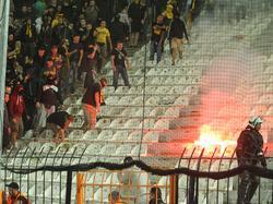 Dortmunder Fans machten sich in Saloniki negativ bemerkbar