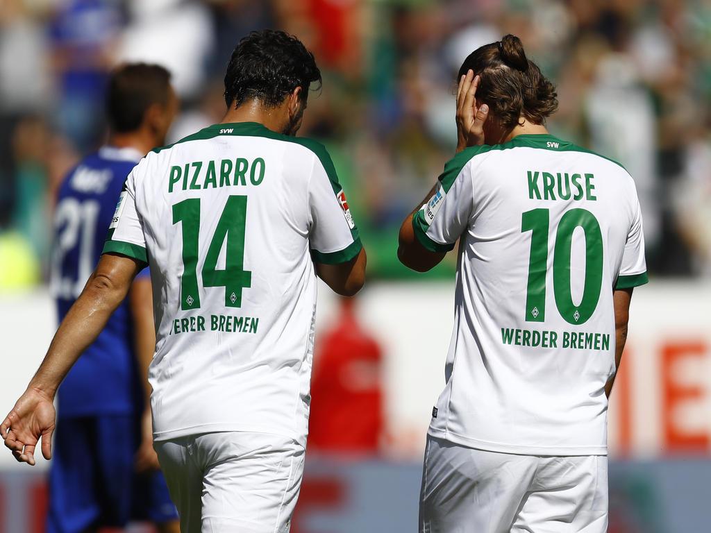 Pizarro (l.) und Kruse fehlen bis Mitte November