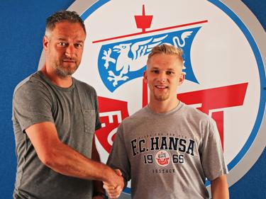 Bryan Henning (r.) wechselt zum FC Hansa