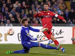 Martin Harnik erzielte den Treffer zum 1:0 für den VfB Stuttgart