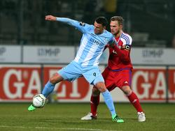 Petar Slišković (l.) geht bald für den Halleschen FC auf Torejagd