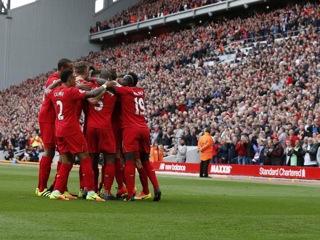 Gewohntes Bild in diesen Tagen: Die Liverpooler beim Torjubel