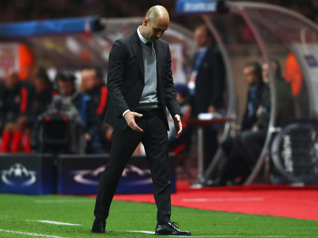 City-Coach Pep Guardiola erlebte eine krachende Niederlage