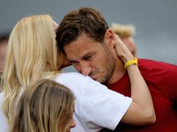 Francesco Totti (r.) bestritt sein letztes Spiel in seiner Karriere.