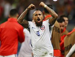 Die Chilenen feiern den Finaleinzug