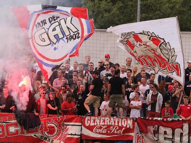 Beim letzten Meisterschafts-Heimspiel in der abgelaufenen Saison waren die GAK-Fans noch gut bestückt