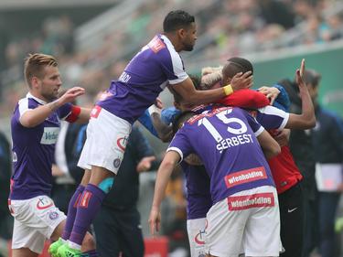 Die Austria schaffte am Sonntag einen 2:0-Sieg gegen Rapid