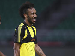 Pierre-Emerick Aubameyang durante la estancia en China. (Foto: Getty)