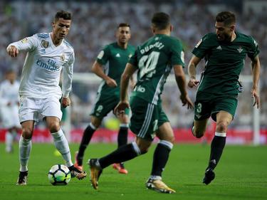 Cristiano Ronaldo (l.) blieb bei seinem Liga-Comeback ohne Treffer