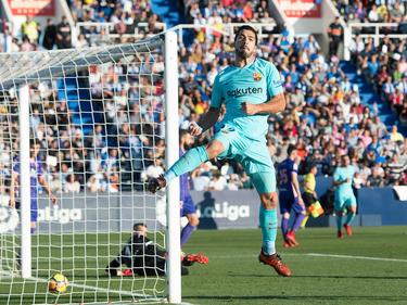 Luis Suárez ha vuelto a encontrarse con las redes rivales. (Foto: Getty)