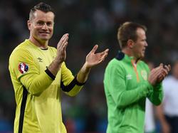 Nach über 130 Spielen für Irland ist nun endgültig Schluss für Shay Given (l.)