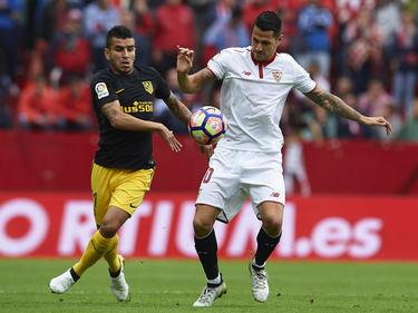 Vitolo en un encuentro precisamente contra el Atlético de Madrid. (Foto: Getty)