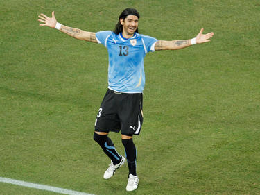 Abreu en un partido con la selección uruguaya. (Foto: Getty)