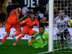 Ende November erzielte Sergio Busquets in letzter Minute den Siegtreffer gegen Valencia