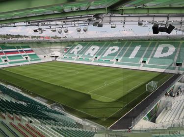 Das Allianz Stadion vom SK Rapid Wien bietet 28.600 Zusehern Platz