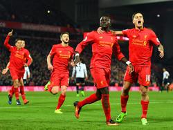 Mané (2.v.r.) war der Mann des Spiels für den FC Liverpool