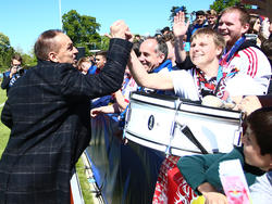 Ernst Tanner feierte mit den Fans