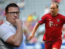 Ex-FCB-Manager Nerlinger (r.) setzt sich für Max Eberl ein