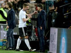 Lukas Podolski verabschiedete sich von der Nationalmannschaftsbühne