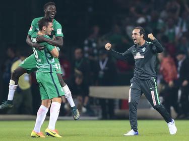 Nach dem Schlusspfiff gab es bei Werder Bremen kein Halten mehr