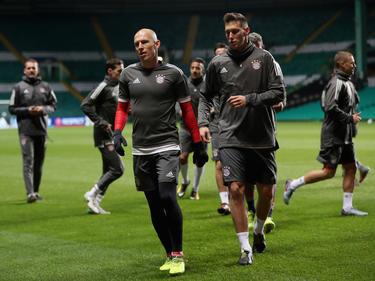 Robben und Co. bereiten sich im Celtic Park auf die Partie vor
