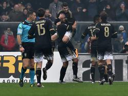 Morata (#9) darf sich für zwei Treffer feiern lassen