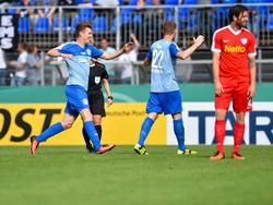 Der Zweitligist hatte wenig jubeln, das tat am Ende nur der FC Astoria Walldorf