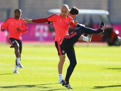 Arjen Robben ist wieder ins Training eingestiegen