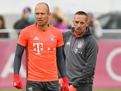 Arjen Robben und Franck Ribéry konnten am Donnerstag nicht trainieren