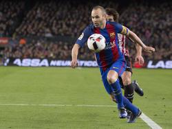 Andrés Iniesta wird dem FC Barcelona vorerst fehlen