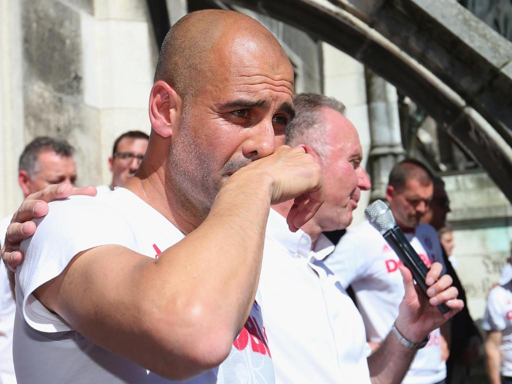 Pep Guardiola weinte auch am Marienplatz