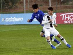 Valeri 'Vako' Qazaishvili speelt in het seizoen 2016/2017 op huurbasis voor Legia Warschau. (25-01-2017)