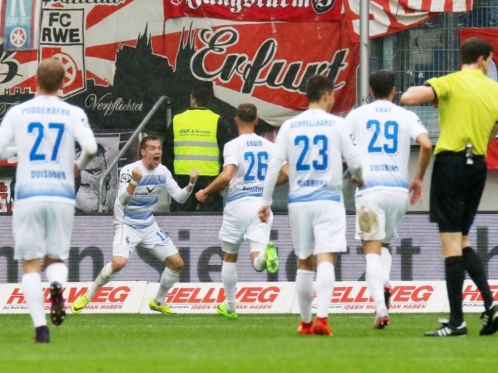 Duisburg feierte gegen Erfurt einen 3:2-Sieg