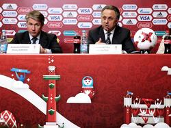 Die russischen WM-Organisatoren um Sorokin (l.) und Mutko