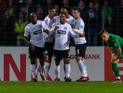 Eintracht Frankfurt setzte sich souverän in der 2. Runde des DFB-Pokals durch