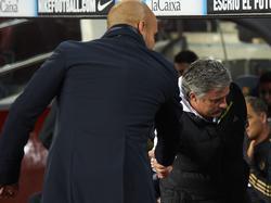 Pep Guardiola (l.) und José Mourinho werden keine Freunde mehr