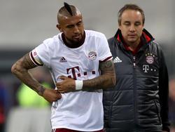 Bayerns Arturo Vidal hat immer noch Probleme mit seinen Rippen