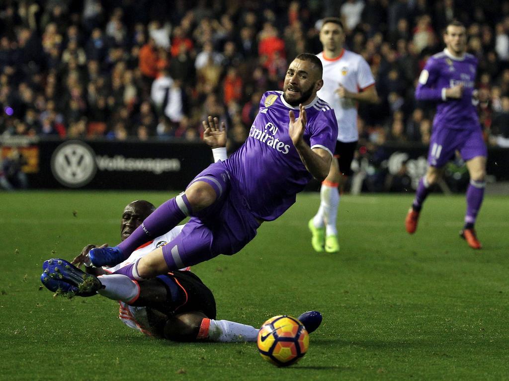 Karim Benzema und Real Madrid mussten sich dem FC Valencia geschlagen geben