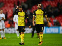 Nuri Şahin (r.) und der BVB mussten sich gegen Tottenham geschlagen geben