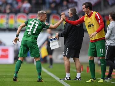 Philipp Max (l.) freute sich über seinen Treffer