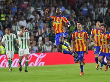 Kondogbia abrió el marcador en el Villamarín. (Foto: Imago)